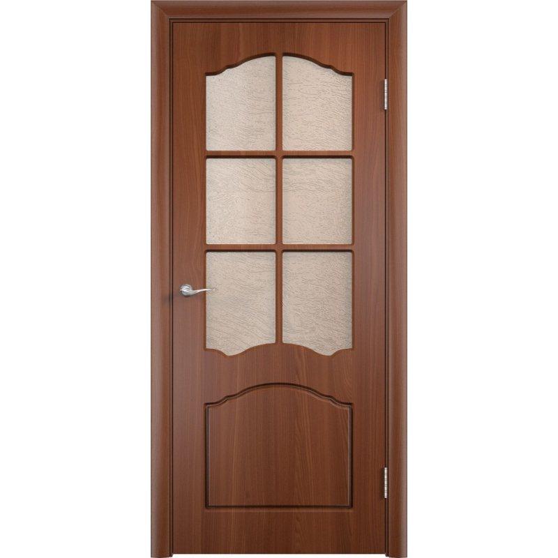 Межкомнатная дверь ЛИДИЯ итальянский орех ПО