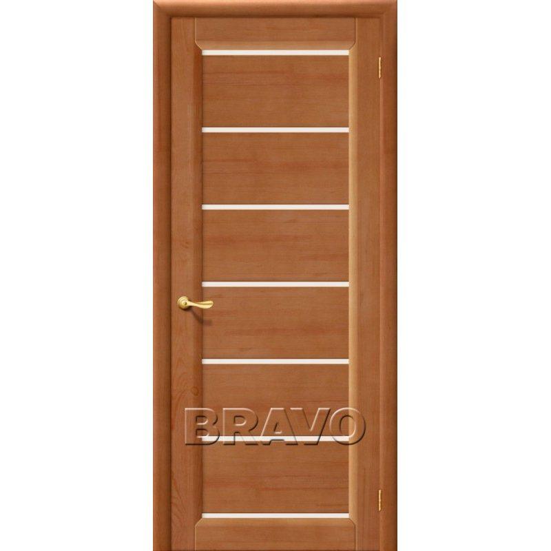Межкомнатная дверь М2 светлый лак ПО