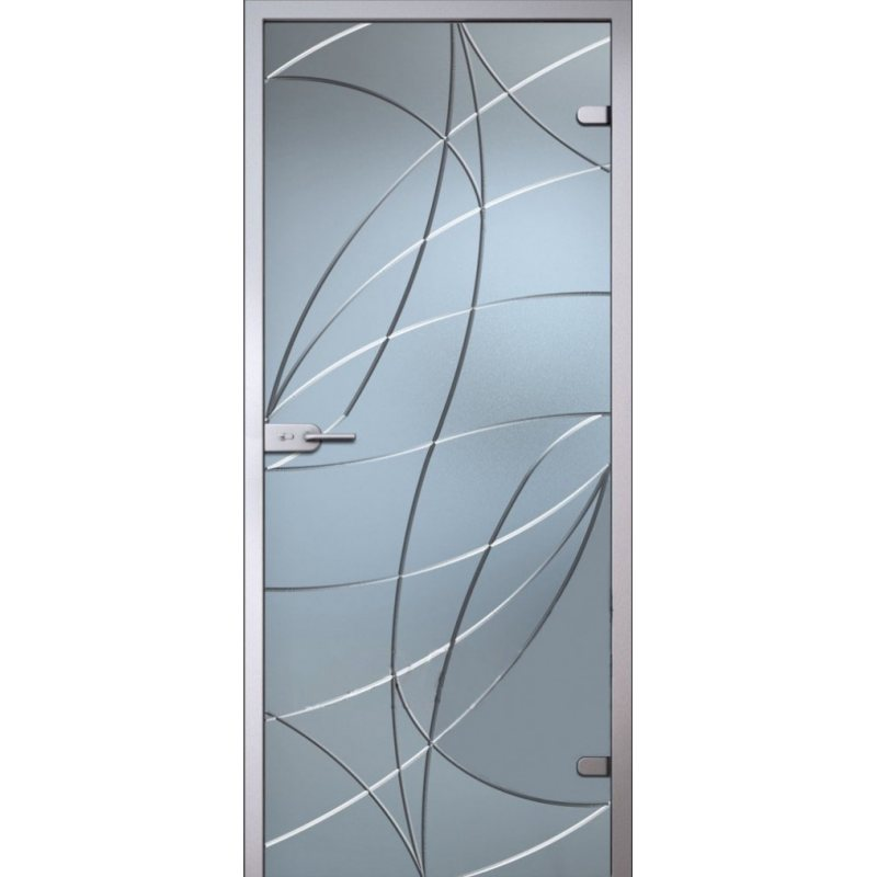 Межкомнатная дверь АВРОРА белое сатинато