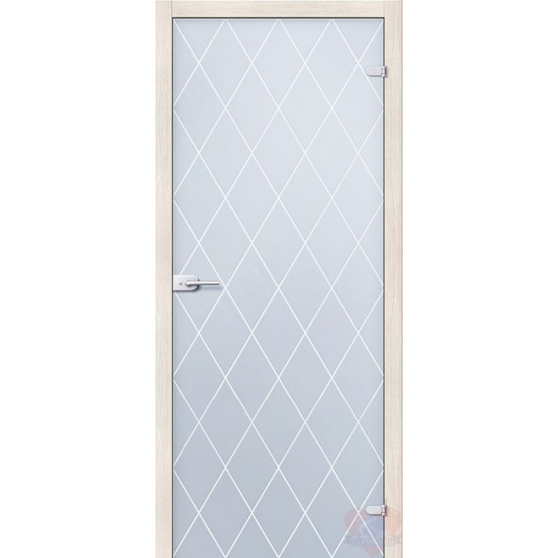 Межкомнатная дверь КРИСТАЛЛ белое сатинато