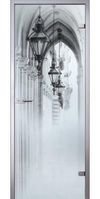 Межкомнатная дверь АРКАДА Люкс белое сатинато