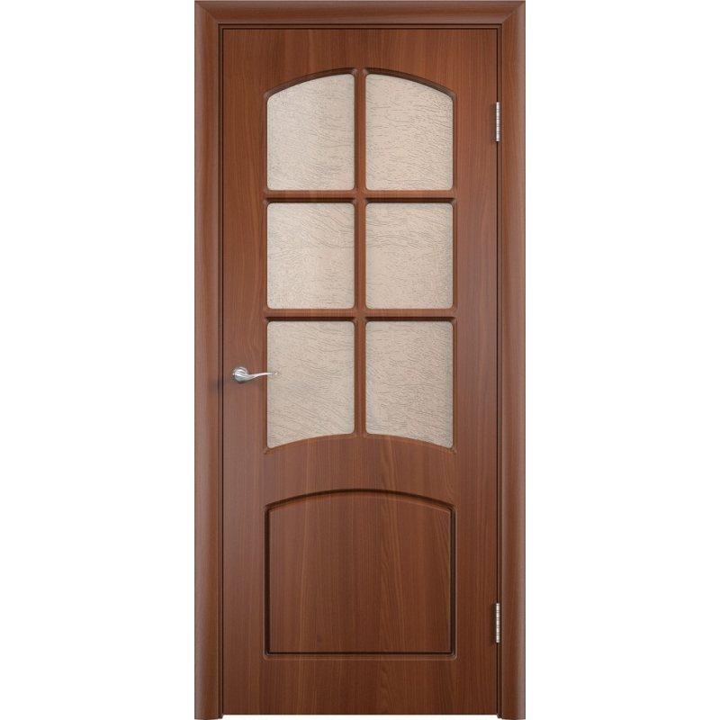 Межкомнатная дверь КЭРОЛЛ итальянский орех ПО