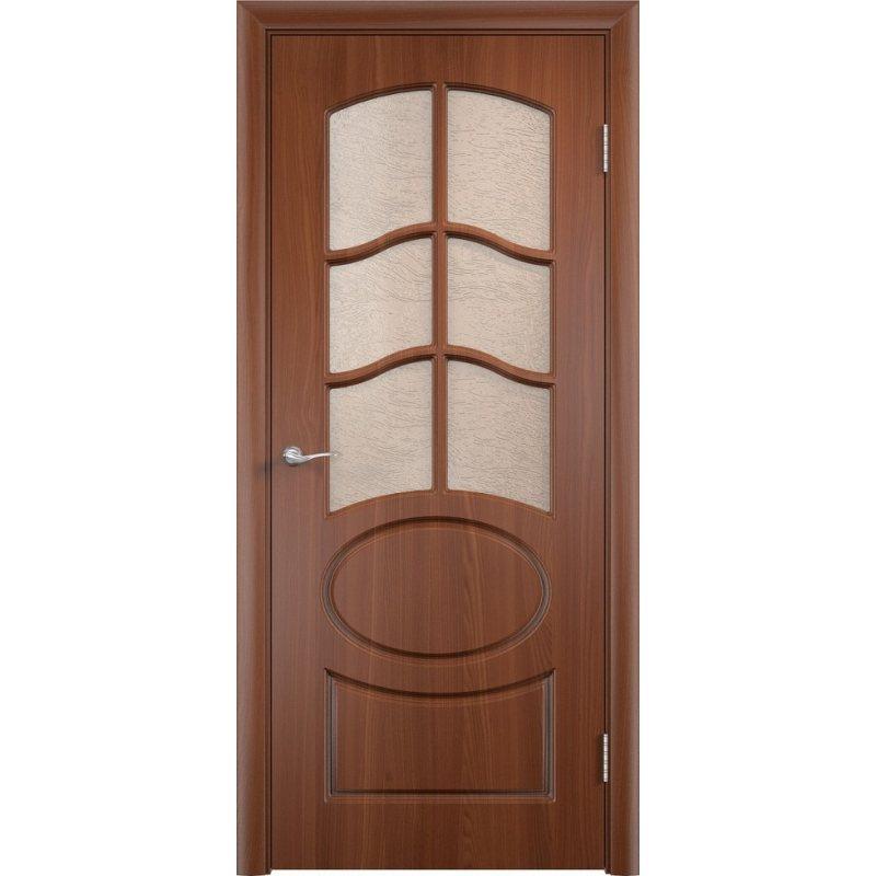 Межкомнатная дверь НЕАПОЛЬ итальянский орех ПО2