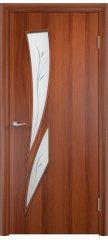 Межкомнатная дверь С-02 итальянский орех ПОФ
