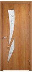 Межкомнатная дверь С-02 миланский орех ПОФ