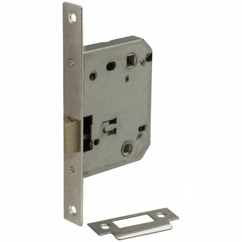 Дверная фурнитура - Защелка пластиковый язычок Bravo P-2-WC C Хром