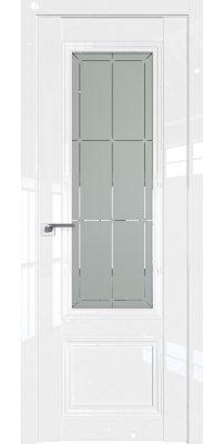 Межкомнатная дверь 2.103L белый люкс, стекло гравировка 1