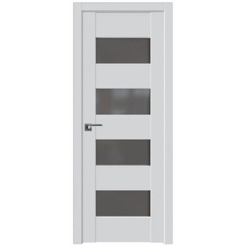 Межкомнатная дверь 46U аляска, стекло  графит