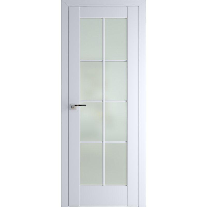 Межкомнатная дверь 101U аляска, стекло матовое