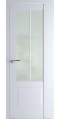 Межкомнатная дверь 103U аляска, стекло матовое