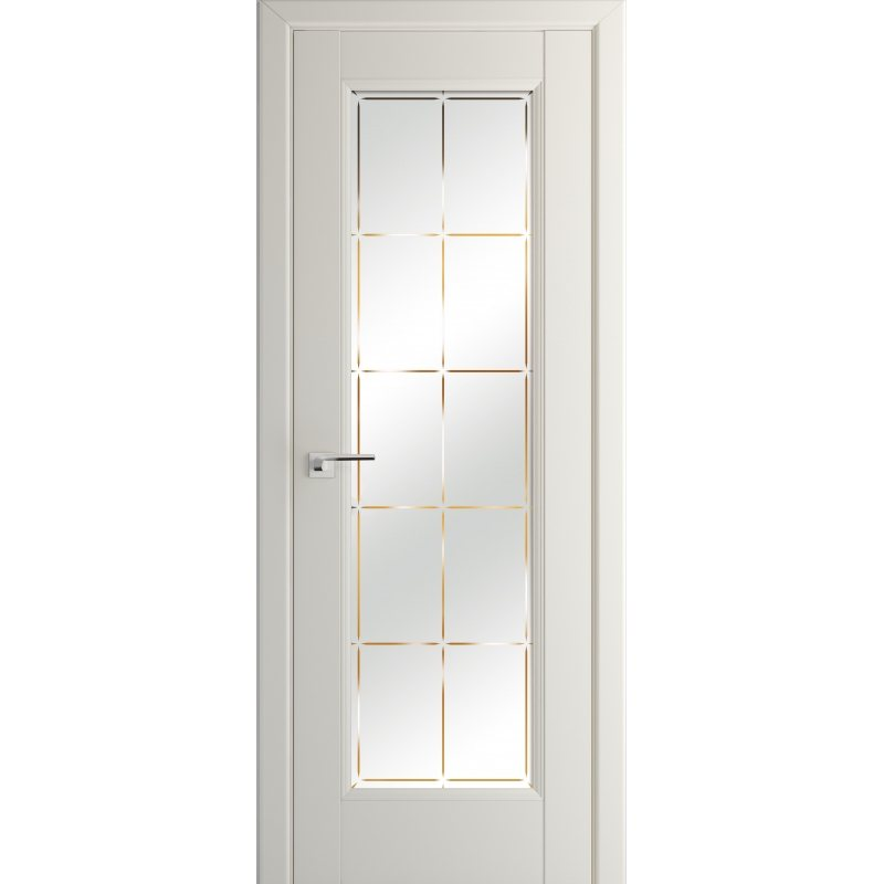 Межкомнатная дверь 92U магнолия сатинат, стекло гравировка 10