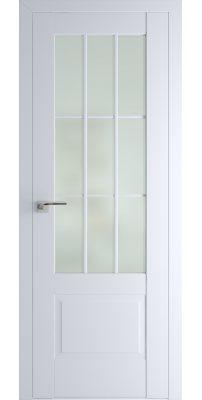 Межкомнатная дверь 104U аляска, стекло матовое