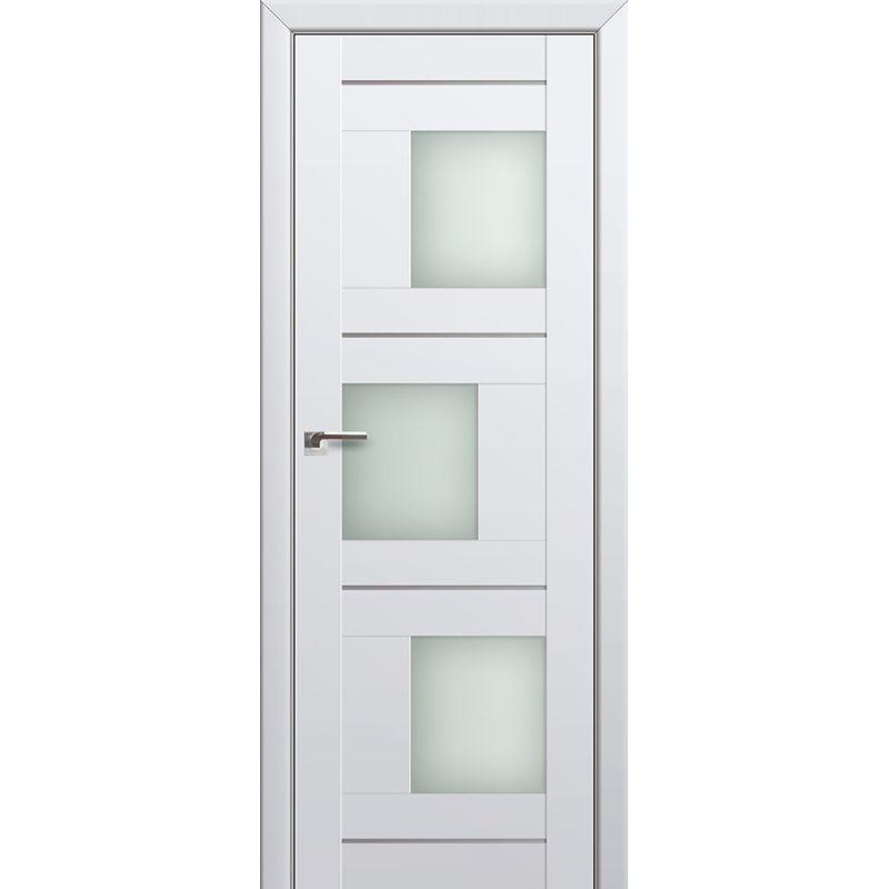 Межкомнатная дверь 13U аляска, стекло матовое