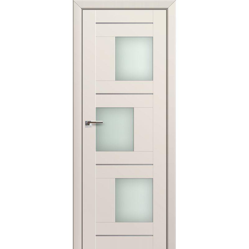 Межкомнатная дверь 13U магнолия сатинат, стекло матовое