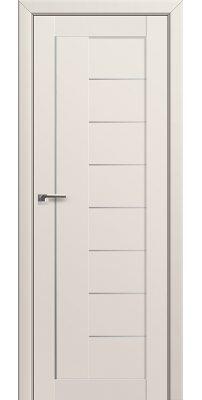 Межкомнатная дверь 17U магнолия сатинат, стекло матовое