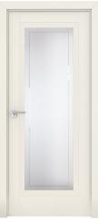 Межкомнатная дверь 2.111U магнолия сатинат, стекло гравировка 4