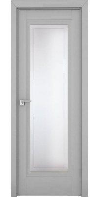 Межкомнатная дверь 2.111U манхэттен, стекло гравировка 4