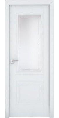 Межкомнатная дверь 2.113U аляска, стекло гравировка 4