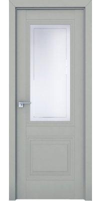 Межкомнатная дверь 2.113U манхэттен, стекло гравировка 4