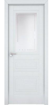 Межкомнатная дверь 2.115U аляска, стекло гравировка 4