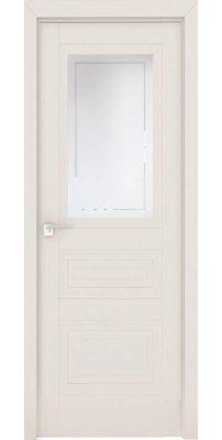 Межкомнатная дверь 2.115U магнолия сатинат, стекло гравировка 4