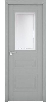 Межкомнатная дверь 2.115U манхэттен, стекло гравировка 4