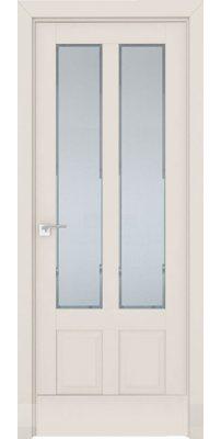 Межкомнатная дверь 2.117U магнолия сатинат, стекло square матовое