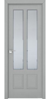 Межкомнатная дверь 2.117U манхэттен, стекло square матовое