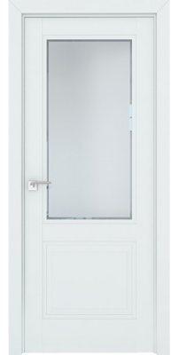 Межкомнатная дверь 2.42U аляска, стекло square белое