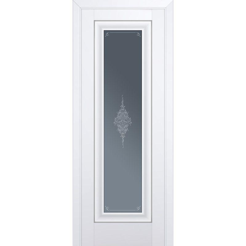 Межкомнатная дверь 24U аляска, стекло кристал графит