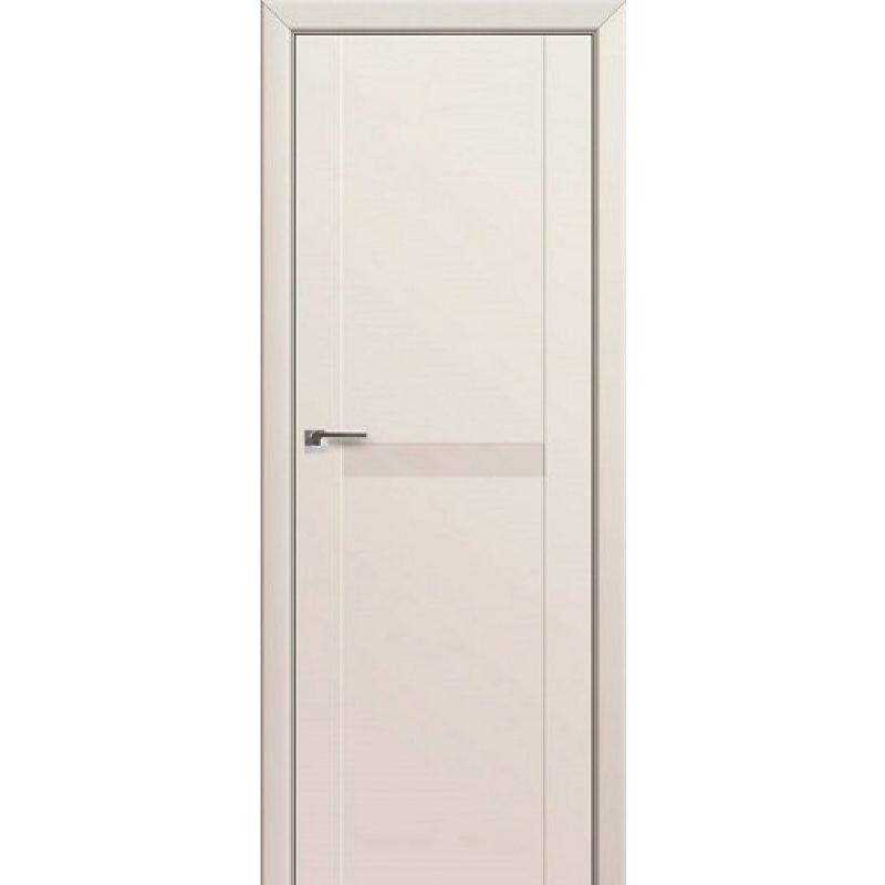 Межкомнатная дверь 86U магнолия сатинат, стекло перламутровый лак