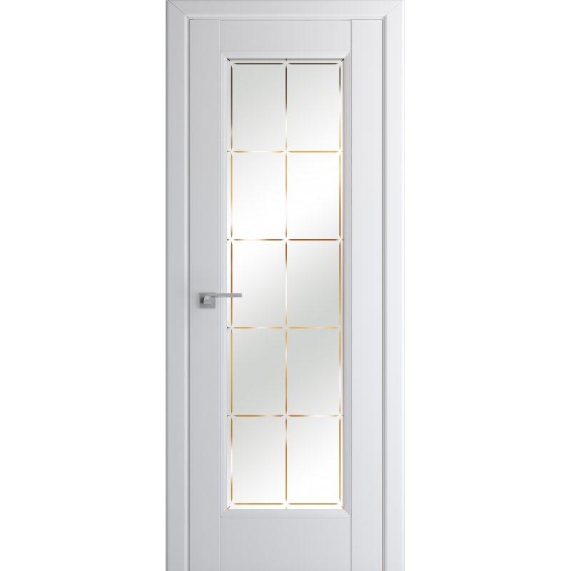 Межкомнатная дверь 92U аляска, стекло гравировка 10
