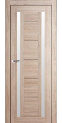 Межкомнатная дверь 15X капучино мелинга, стекло матовое