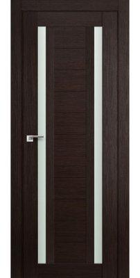 Межкомнатная дверь 15X венге мелинга, стекло матовое