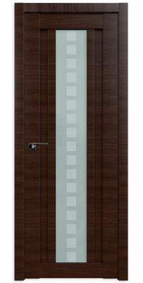 Межкомнатная дверь 16X малага черри кроскут, стекло квадро