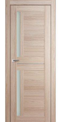 Межкомнатная дверь 19X AL капучино мелинга, стекло матовое