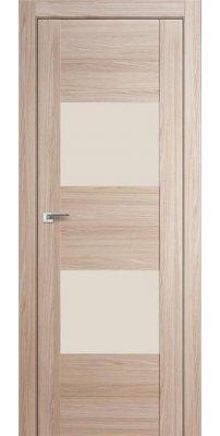 Межкомнатная дверь 21X капучино мелинга, стекло перламутровый лак