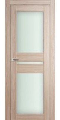 Межкомнатная дверь 70X капучино мелинга, стекло матовое