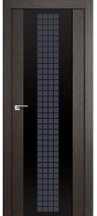Межкомнатная дверь 8X грей мелинга, стекло futura чёрный