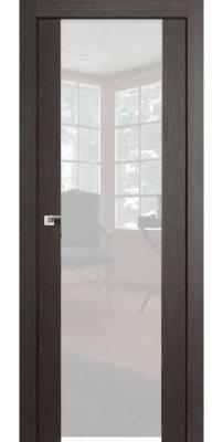Межкомнатная дверь 8X грей мелинга, стекло триплекс белый