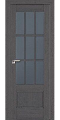 Межкомнатная дверь 104X пекан темный, стекло графит