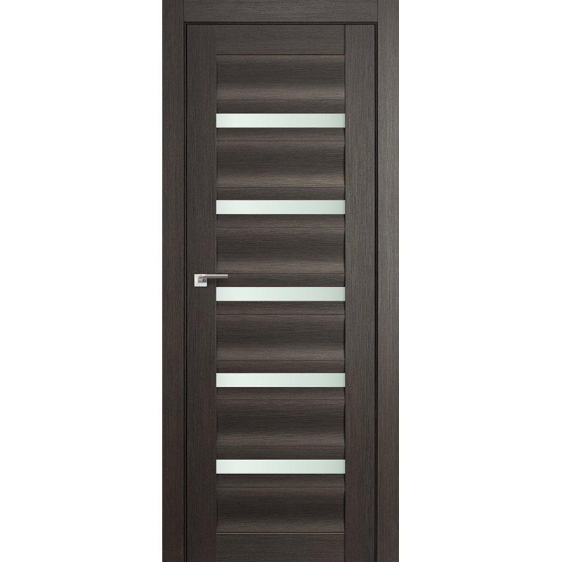 Межкомнатная дверь 116X грей мелинга,стекло матовое