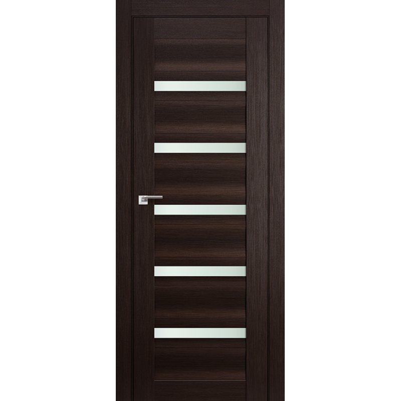 Межкомнатная дверь 116X венге мелинга,стекло матовое