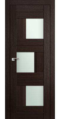 Межкомнатная дверь 13X венге мелинга,стекло матовое молдинг в цвет