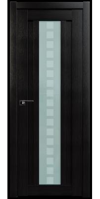 Межкомнатная дверь 16X венге мелинга, стекло квадро