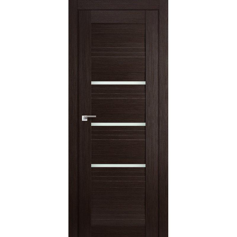 Межкомнатная дверь 18X венге мелинга,стекло матовое