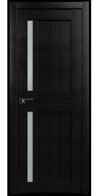 Межкомнатная дверь 19X AL венге мелинга, стекло матовое