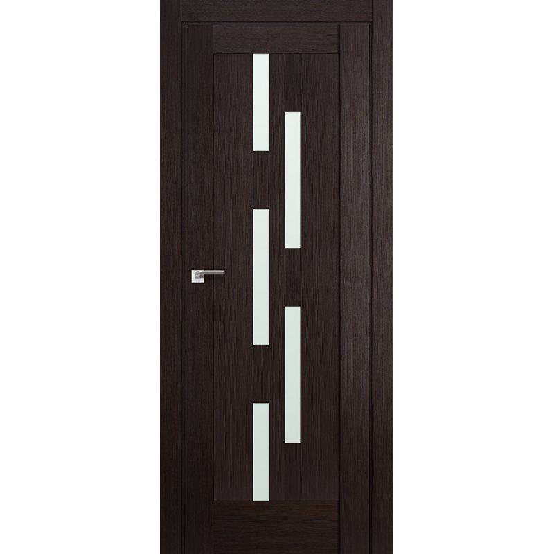 Межкомнатная дверь 30X венге мелинга,стекло матовое