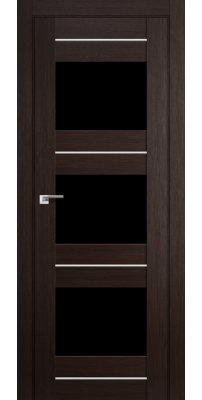 Межкомнатная дверь 41X венге мелинга,стекло черный триплекс