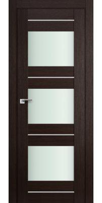 Межкомнатная дверь 41X венге мелинга,стекло матовое